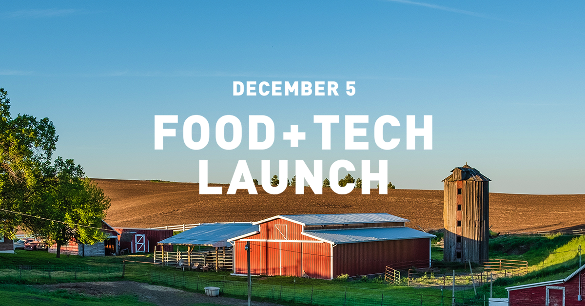 Food + Tech Live Stream on 12/5